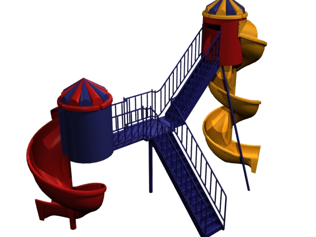 Torbellino playground 3d rendering