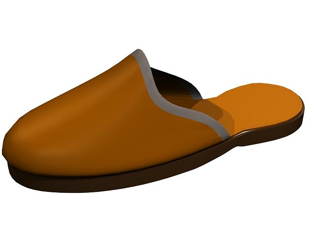 Closed toe terry slipper 3d rendering