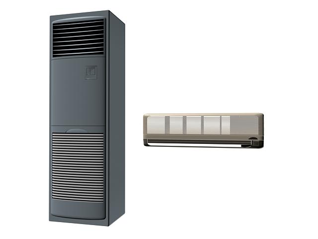 Floor standing air conditioner 3d rendering