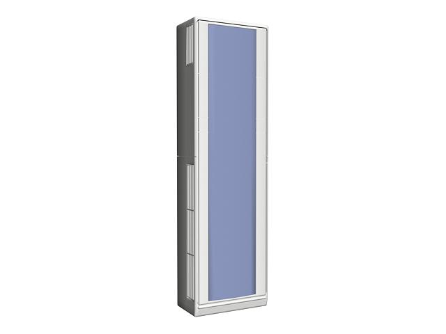 Hybrid solar air conditioner 3d rendering