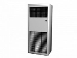 Solar air conditioner 3d model preview