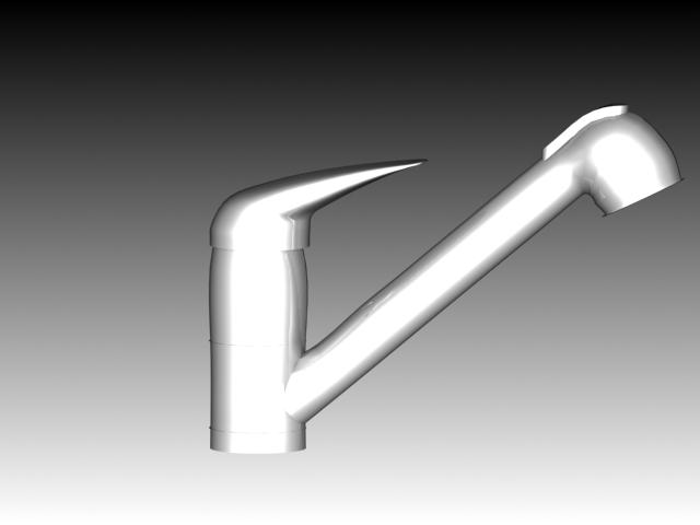 Pull down kitchen faucet 3d rendering