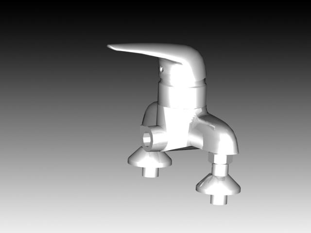 Single hole basin faucet 3d rendering