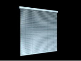 Blue venetian blind 3d preview