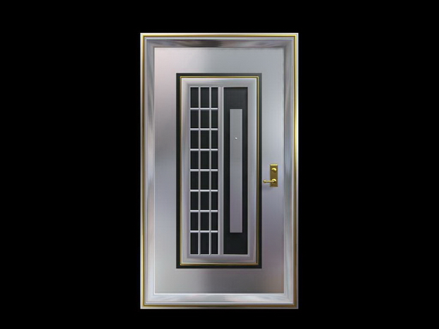 Decorative security door 3d model 3dsMax files free ...