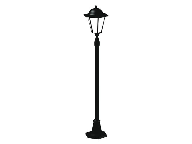 Old fashioned street lamp 3d rendering