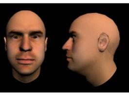 Man head 3d model preview
