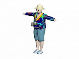Male tourist 3d preview