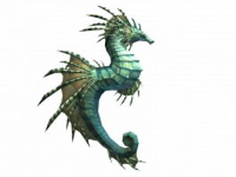 WOW seahorse mount 3d model preview