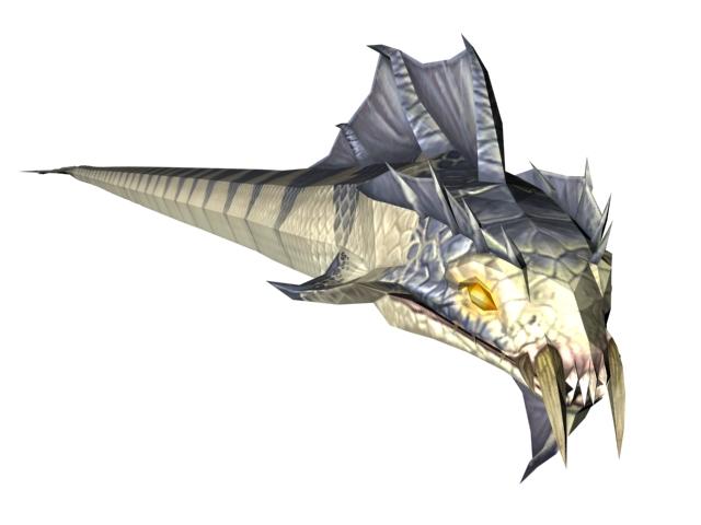 WOW NPC sea snake 3d rendering