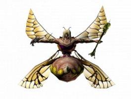 Bee monster 3d model preview