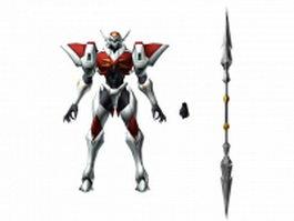 Tekkaman Blade D-Boy 3d model preview