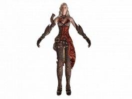 TERA - high elf female warrior 3d model preview