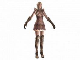 TERA - high elf female armor 3d model preview