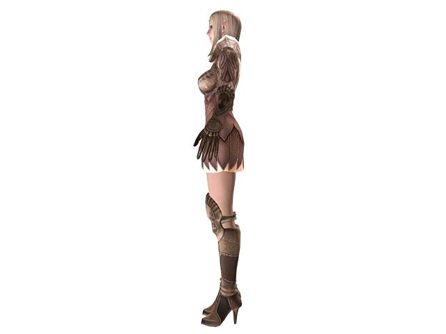 TERA - high elf female armor 3d rendering