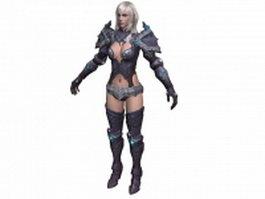 TERA - female warrior 3d model preview