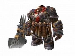 Darksiders II dwarf warrior 3d model preview