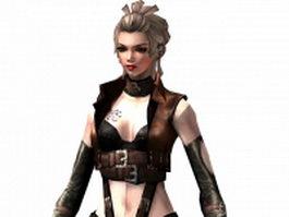 Gunslinger girl 3d model preview