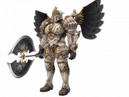 Heavy armored warrior 3d model preview
