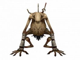 Mosnter zombie skeleton 3d model preview