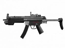 HK MP5 9mm submachine gun 3d model preview