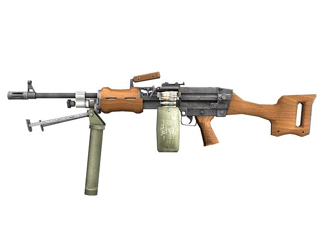 Gatling machine gun 3d rendering