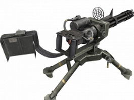 Gatling-type machine gun 3d model preview