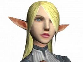 Fantasy Elf female 3d model preview