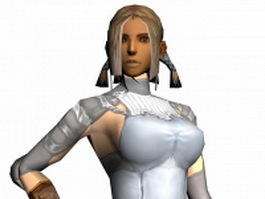 Lineage II human female mage 3d preview