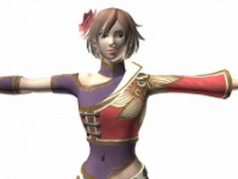 Dynasty warriors 7 female character 3d model preview