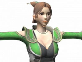 Dynasty warriors 7 - Female character Yue Ying 3d model preview