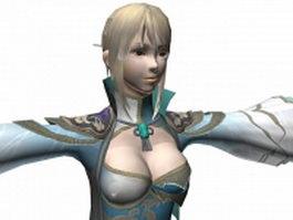 Dynasty warriors 7 - Female character Wang Yuanji 3d model preview