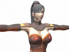 Dynasty warriors 7 - female character Lianshi 3d model preview