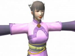Chinese ancient girl character 3d model preview