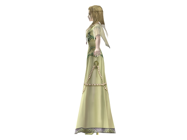 Beautiful fantasy queen 3d rendering