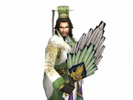 Ancient China military advisor 3d model preview