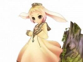 Anime fairy girl 3d preview