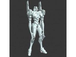 Evangelion robot 3d preview