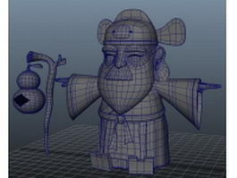 Chinese god of wealth 3d preview