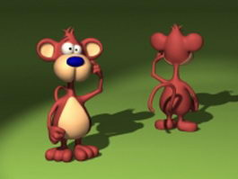 Cartoon monkey characters 3d model preview