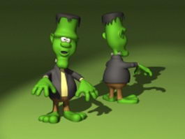 Cartoon clown 3d model preview