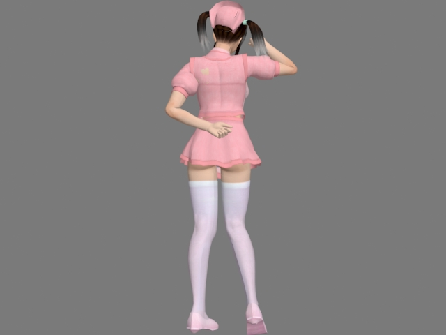 Anime sexy housemaid 3d rendering