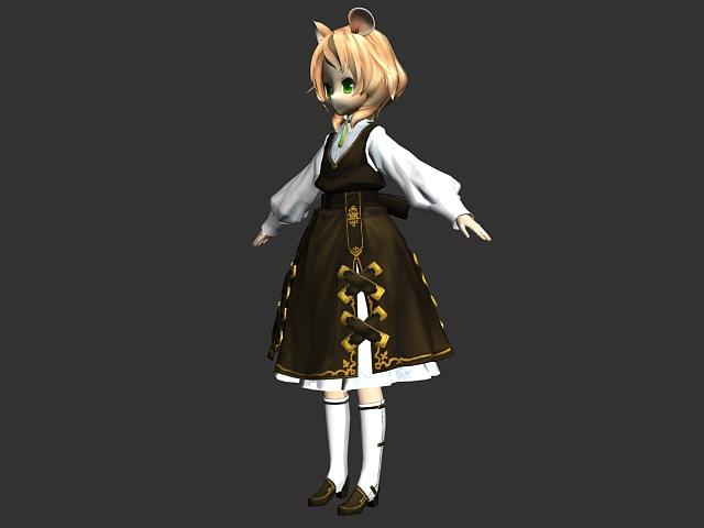 Cute Loli girl 3d rendering