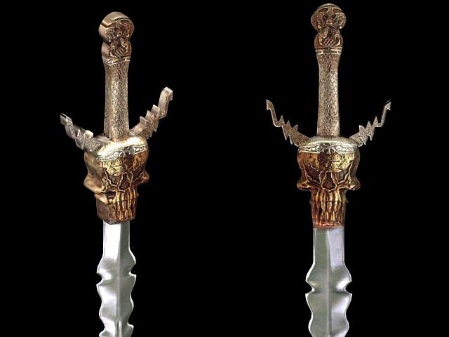 Cool sword design 3d rendering