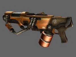 Sci-fi plasma rifle 3d model preview