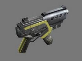 Sci-fi machine pistol 3d model preview