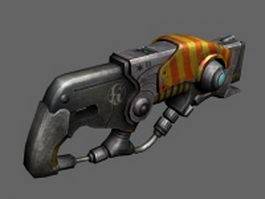 Sci-fi cluster cannon 3d model preview