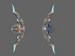 Legendary bow - Thori'dal, the Stars' Fury 3d model preview