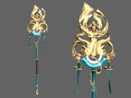 Summoner staff 3d preview