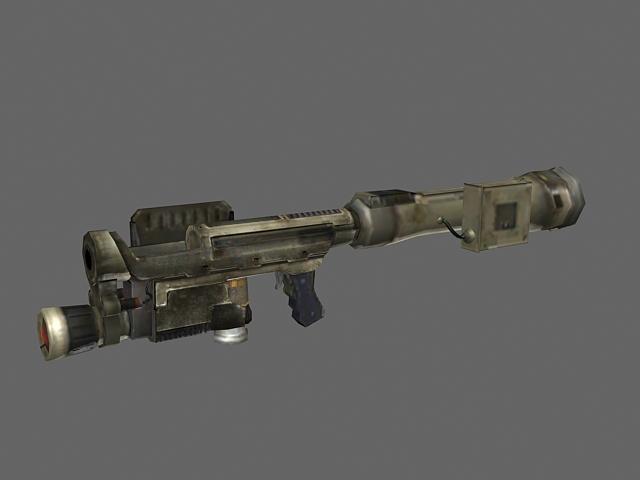 Fantasy rocket launcher 3d rendering
